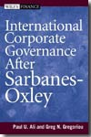 International corporate governance under Sarbanes-Oxley. 9780471775928