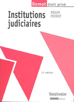 Institutions judiciaires. 9782707615930