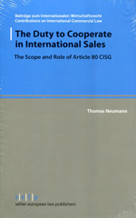 The duty to cooperate in international sales. 9783866532205