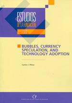 Bubbles, currency speculation, and technology adoption