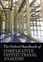 The Oxford handbook of comparative institucional analysis. 9780199693771