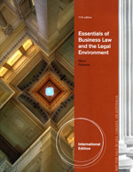 Essentials of business Law and the legal environment. 9781133188629