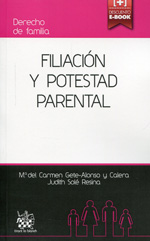 Filiación y potestad parental. 9788490536728