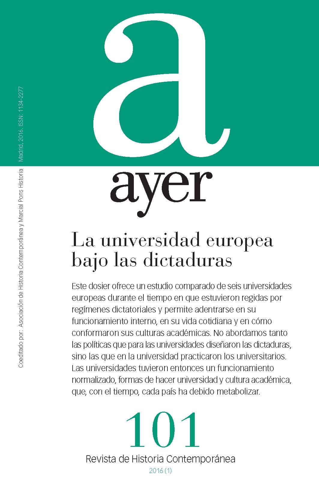 La universidad europea bajo las dictaduras