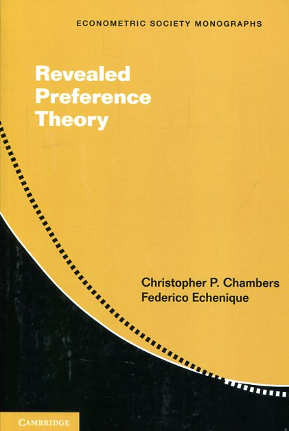 Revealed preference theory. 9781107458116