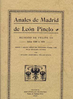 Anales de Madrid de León Pinelo. 9788497610582