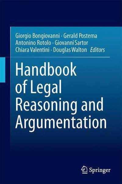 Handbook of legal reasoning and argumentation. 9789048194513