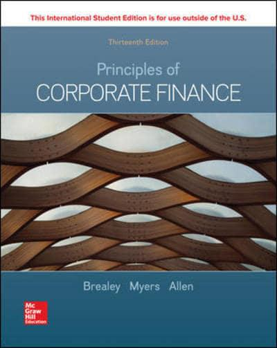 Principles of Corporate Finance. 9781260565553