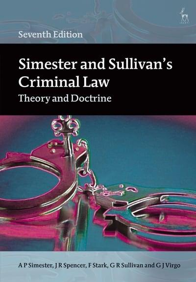 Simester and Sullivan's Criminal Law. 9781509926688