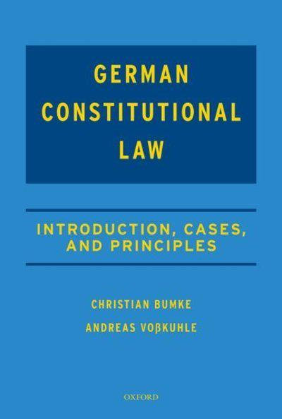 German Constitutional Law. 9780198808091