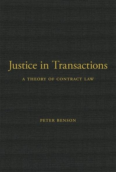Justice in transactions. 9780674237599