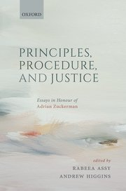 Principles, procedure, and justice. 9780198850410
