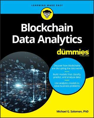 Blockchain data analytics for dummies. 9781119651772
