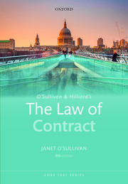 O'Sullivan & Hilliard's The law of contract
