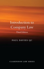 Introduction to company law. 9780198854920