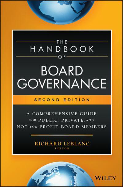 The handbook of board governance. 9781119537168
